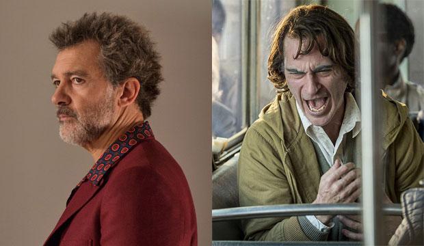Antonio Banderas in Pain and Glory, Joaquin Phoenix in Joker