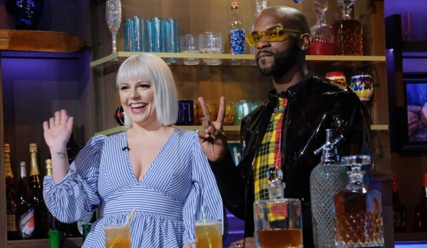 Project Runway stars Brittany Allen and Marquise Foster on Watch What Happens Live