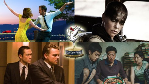 Gold Derby Decade Award nominees La La Land, Max Max Fury Road, Inception and Parasite
