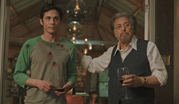 Logan Lerman and Al Pacino in Hunters