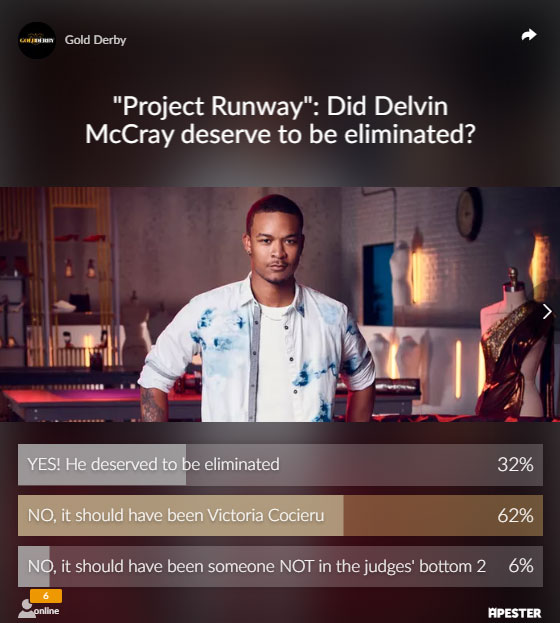 project runway poll results delvin mccray