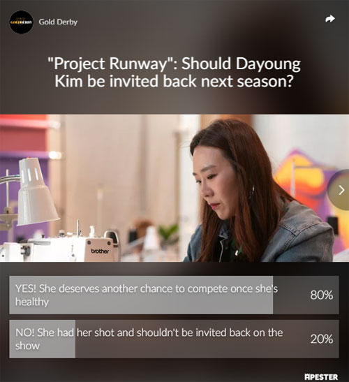 Project Runway poll results dayoung withdrawal