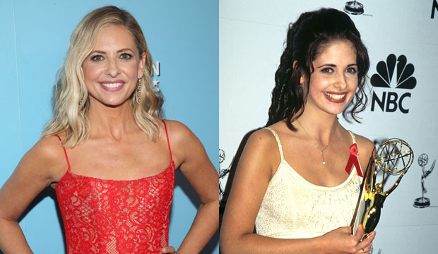 Sarah Michelle Gellar then and now