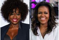 "TV-Michelle Obama-Davis - 12 Nov 2018 This combination photo shows actress Viola Davis at the Glamour Women of the Year Awards in New York, left, and former first lady Michelle Obama on NBC's ""Today"" show in New York on Oct. 11, 2018. Davis is set to portray Obama in a Showtime series about America's first ladies. Davis also is an executive producer on the project, which is still in development"
