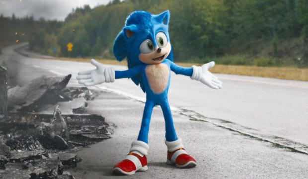 Sonic (Ben Schwartz) in SONIC THE HEDGEHOG from Paramount Pictures and Sega. Photo Credit: Courtesy Paramount Pictures and Sega of America