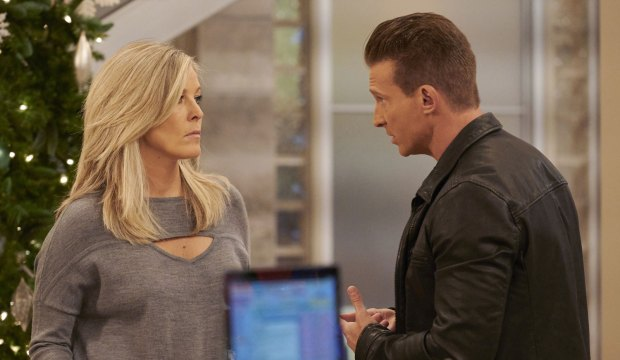 Laura Wright and Steve Burton on General Hospital