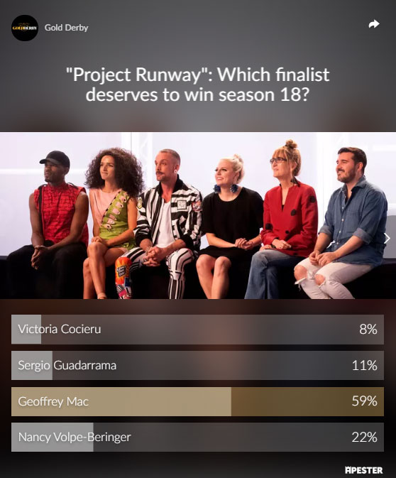 project runway poll results finale winner