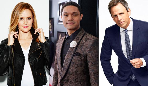 Samantha Bee, Trevor Noah, Seth Meyers