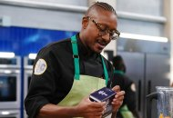 "TOP CHEF -- ""It's Like They Never Left!"" Episode 1701 -- Pictured: Gregory Gourdet -- (Photo by: Nicole Weingart/Bravo)"