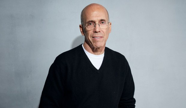 """TV-Quibi Launch, Park City, United States - 24 Jan 2020 Jeffrey Katzenberg poses for a portrait to promote """"Quibi"""" at the Music Lodge during the Sundance Film Festival, in Park City, Utah"""