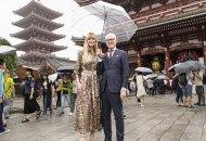 Heidi Klum and Tim Gun in Tokyo on Making the Cut