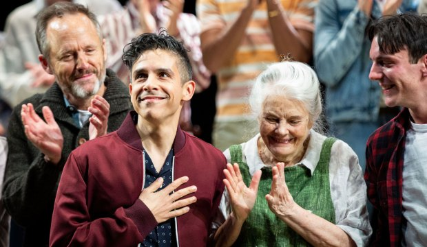 'The Inheritance' Broadway play opening, Curtain call, Barrymore Theater, Show, New York, USA - 17 Nov 2019 Matthew Lopez and the cast of The Inheritance