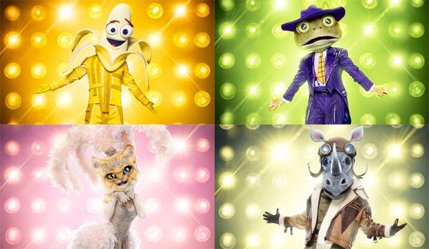 the-masked-singer-banana-frog-kitty-rhino