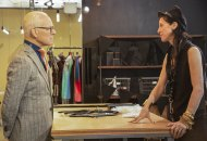 Tim Gunn and Esther Perbandt in Making the Cut episode 9 Pop Up Shop