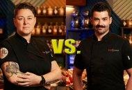 Top Chef All-Stars Lisa Fernandes and Joe Sasto