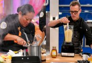 Lee Anne Wong and Brian Malarkey on top Chef