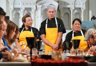 """TOP CHEF -- """"Strokes of Genius"""" Episode 1703 -- Pictured: (l-r) Nini Nguyen, Brian Malarkey, Lee Anne Wong -- (Photo by: Nicole Weingart/Bravo)"""