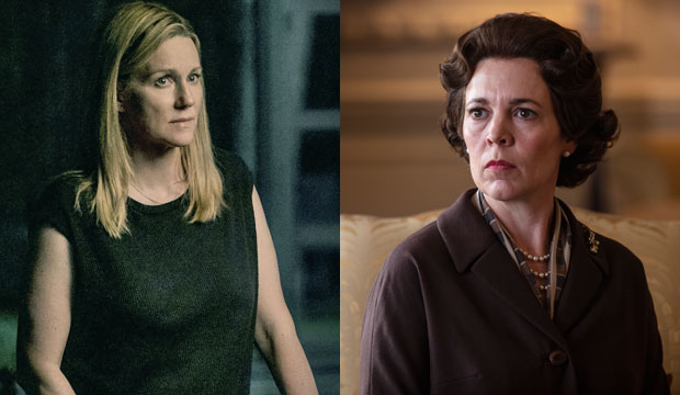 Laura Linney and Olivia Colman