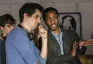 Damien Chazelle and Andre Holland on the set of The Eddy