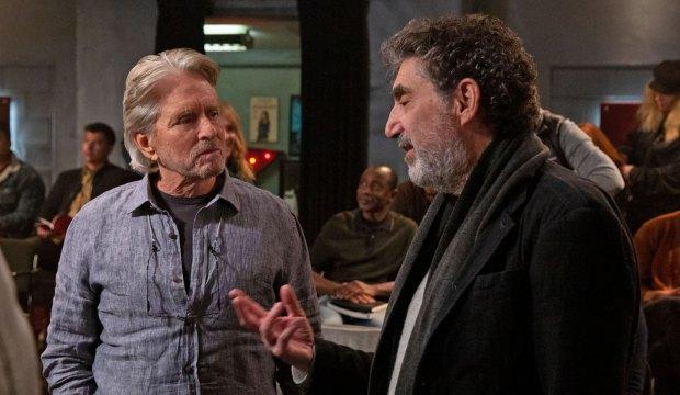 Michael Douglas and Chuck Lorre behind the scenes on The Kominsky Method