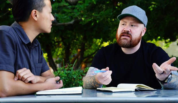 "TOP CHEF -- ""Get your Phil"" Episode 1706 -- Pictured: (l-r) Melissa King, Kevin Gillespie -- (Photo by: Nicole Weingart/Bravo)"
