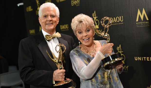 45th Annual Daytime Emmy Awards, Press Room, Los Angeles, USA - 29 Apr 2018 Bill Hayes and Susan Seaforth Hayes