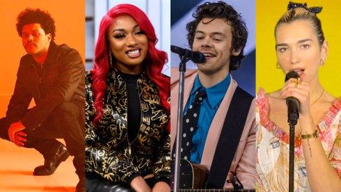 The Weeknd, Megan Thee Stallion, Harry Styles and Dua Lipa