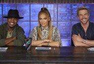"WORLD OF DANCE -- ""Qualifiers"" Episode 401 -- Pictured: (l-r) Ne-Yo, Jennifer Lopez, Derek Hough -- (Photo by: Trae Patton/NBC)"