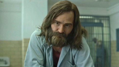 Damon Herriman as Charles Manson on Mindhunter