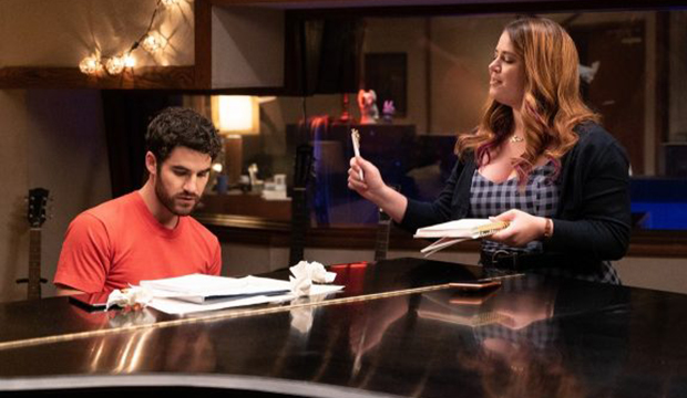 Emmy spotlight: Darren Criss and Kether Donohue bring comedic and musical chops to Quibi's 'Royalties'