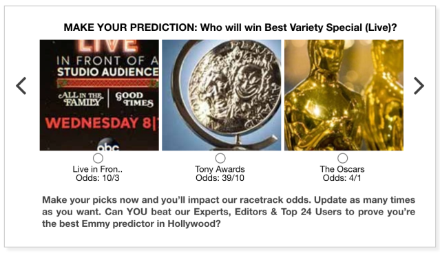 Emmys 2020 Best Variety Special Live