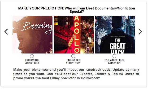 Emmy for Best Documentary widget