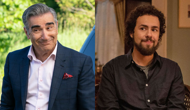Eugene Levy in Schitt's Creek and Ramy Youssef in Ramy