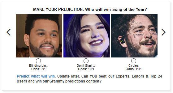 Grammy widget