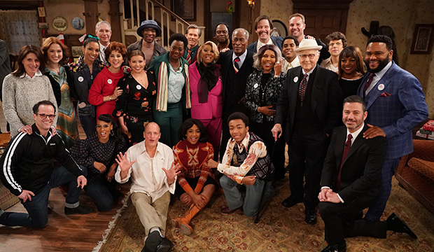 """""""Live in Front of a Studio Audience: 'All in the Family' and 'Good Times'"""" cast and crew"""