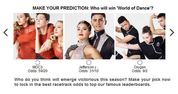 World of Dance predictions widget
