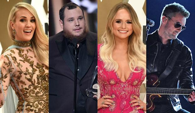 Carrie Underwood, Luke Combs, Miranda Lambert and Eric Church