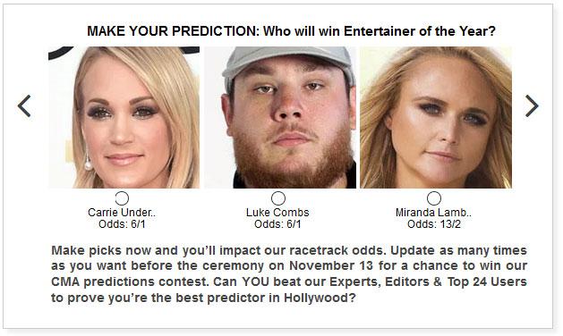 CMA Entertainer of the Year widget