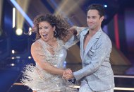 Justina Machado and Sasha Farber on Dancing with the Stars DWTS