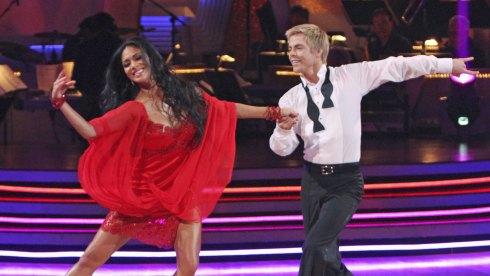 Derek Hough and Nicole Scherzinger on Dancing with the Stars DWTS