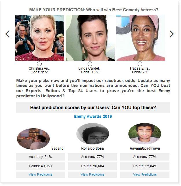 Emmy Best Comedy Actress widget