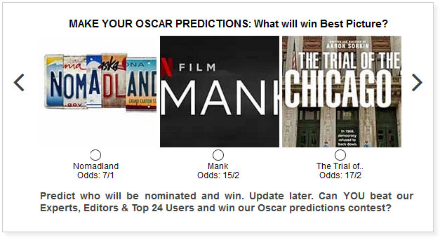 Oscars Best Picture widget