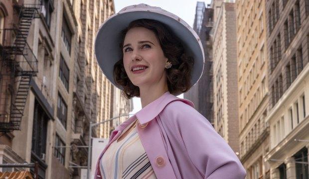 Rachel Brosnahan in The Marvleous Mrs Maisel A Jewish Girl Walks into the Apollo