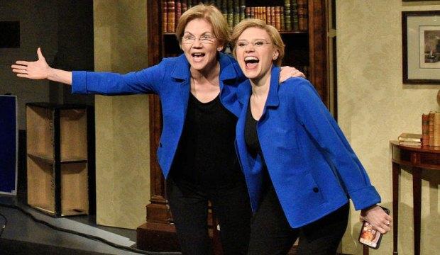 Kate McKinnon as Elizabeth Warren on SNL