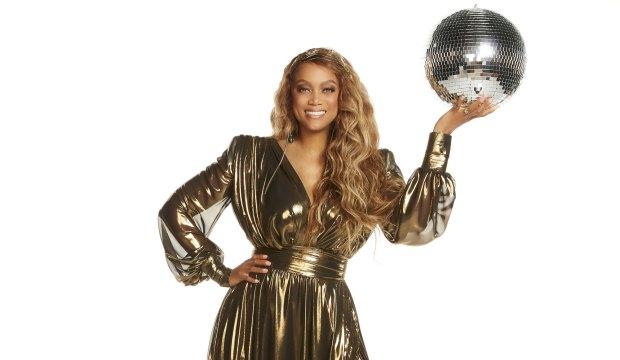 Tyra Banks hosting Dancing with the Stars