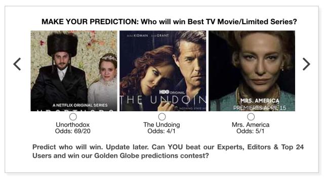 Golden Globes 2021 Best TV Movie/Limited Series