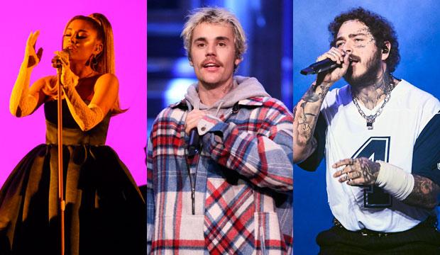 Ariana Grande, Justin Bieber and Post Malone