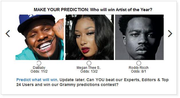 BET Hip Hop Awards Artist of the Year widget