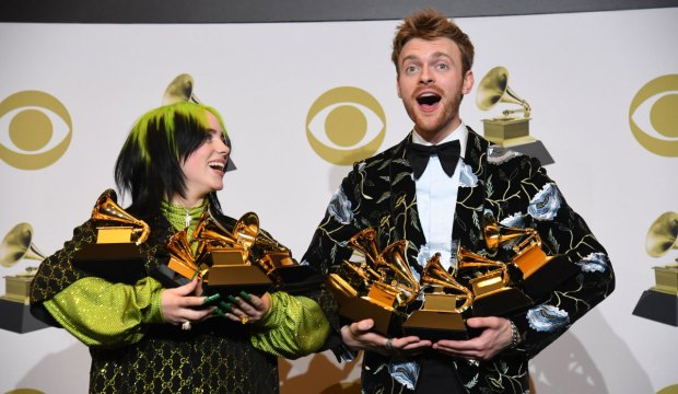 Billie Eilish and Finneas at the Grammys