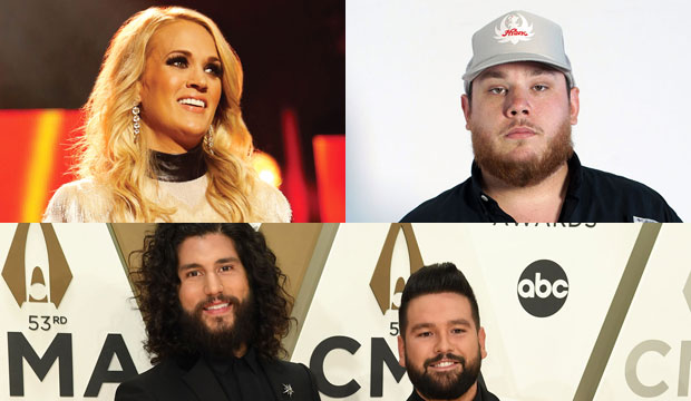 Carrie Underwood, Luke Combs and Dan and Shay
